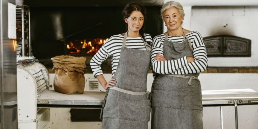 Eesti toiduainetööstus, kaks naist pagaritöökojas