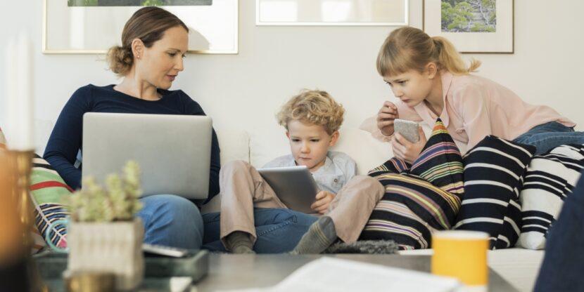 lapsele smart-ID, ema lastega